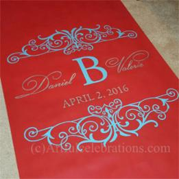 Aisle Runners Artful Celebrations Hand Calligraphy Painted