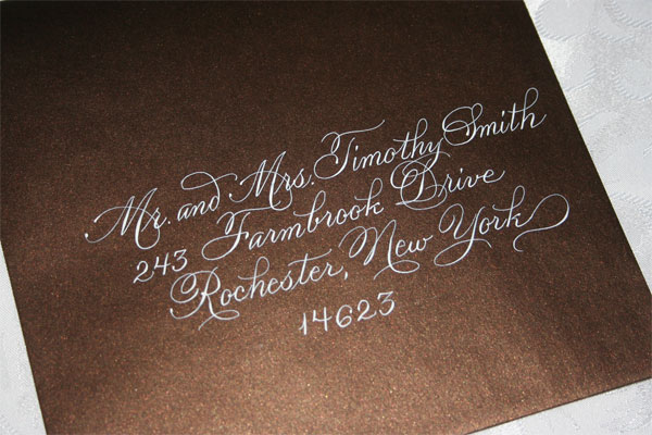 Day 21 Wedding Invitations Trends 2011 Calligraphy
