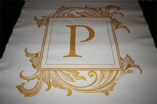 Aisle Runner with Gold