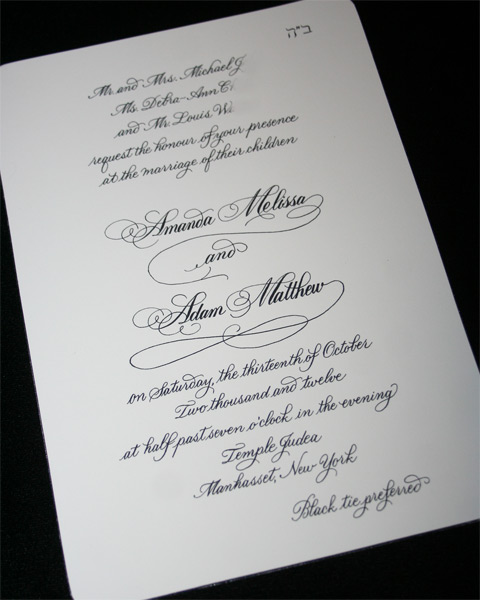 Calligraphy Envelopes, Invitations, Place Cards - Artful ...