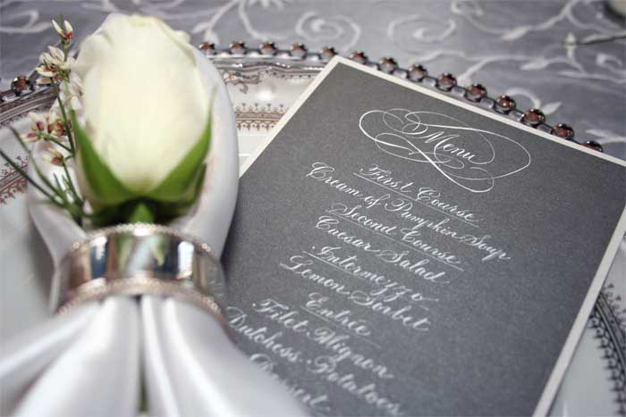 menus programs wedding scrolls artful celebrations hand