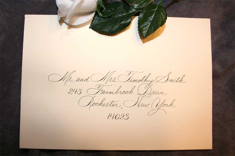 calligraphy envelopes invitations place cards artful